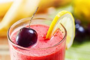 Raspberry-cherry-smoothie