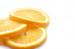 Thinly sliced fresh orange