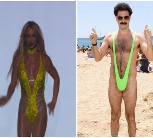 Britney = Borat
