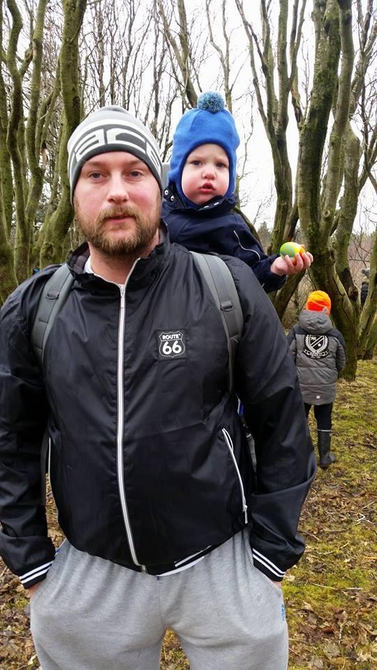 Axel og Hafsteinn Freyr, faðir hans