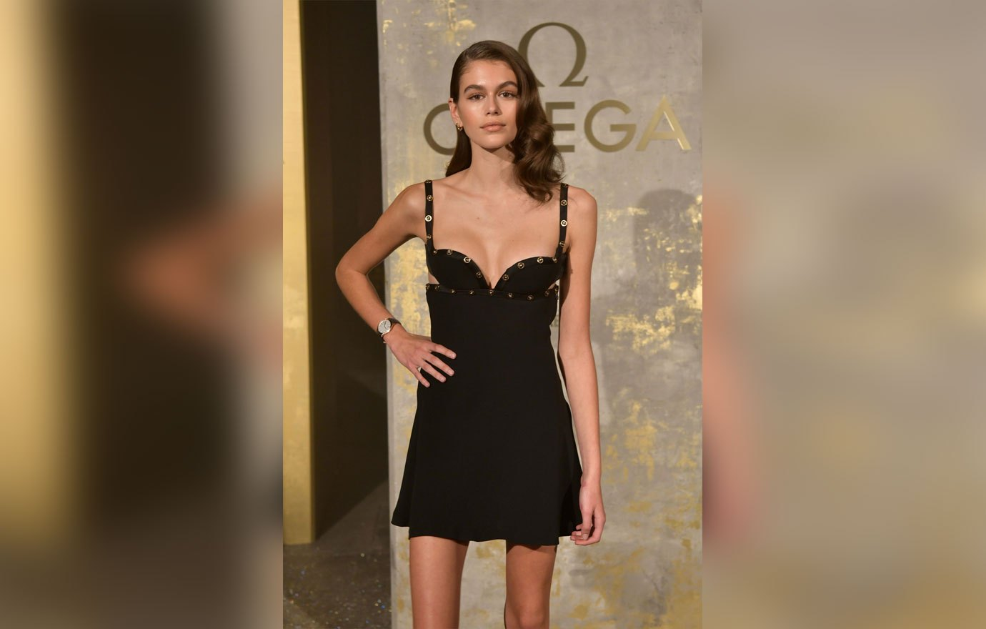 ** RIGHTS: NO WEB - ONLY UNITED STATES ** Berlin, GERMANY - Kaia Gerber and Toni Garrn attend the Omega event in Berlin. Pictured: Kaia Gerber BACKGRID USA 2 MAY 2018 USA: +1 310 798 9111 / usasales@backgrid.com UK: +44 208 344 2007 / uksales@backgrid.com *UK Clients - Pictures Containing Children Please Pixelate Face Prior To Publication*