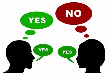 Mann und Frau Konzept - Yes / No