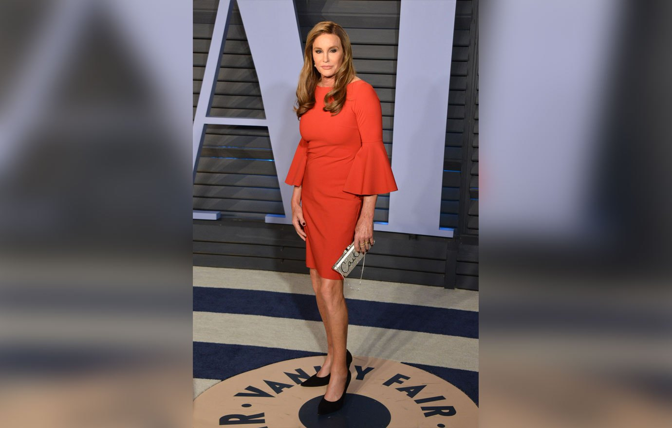 , Beverly Hills, CA -20180304 - The 2018 Vanity Fair Oscar Party -PICTURED: Caitlyn Jenner -PHOTO by: Tony DiMaio/startraksphoto.com This is an editorial, rights-managed image. Please contact Startraks Photo for licensing fee and rights information at sales@startraksphoto.com or call +1 212 414 9464 This image may not be published in any way that is, or might be deemed to be, defamatory, libelous, pornographic, or obscene. Please consult our sales department for any clarification needed prior to publication and use. Startraks Photo reserves the right to pursue unauthorized users of this material. If you are in violation of our intellectual property rights or copyright you may be liable for damages, loss of income, any profits you derive from the unauthorized use of this material and, where appropriate, the cost of collection and/or any statutory damages awarded