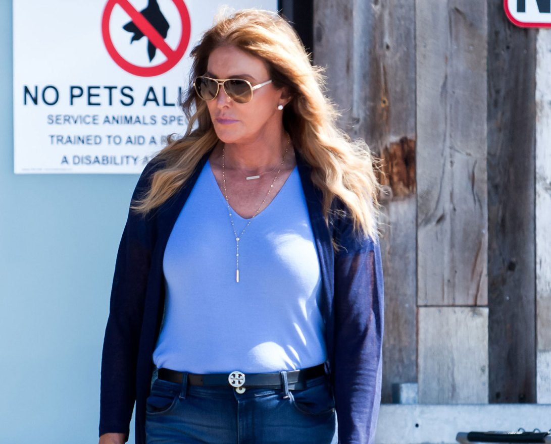 October 15th, 2016: Caitlyn Jenner spotted out and about in Malibu, California. The reality star wore a blue toned outfit and nude strappy heels. Mandatory Credit: SAA/INFphoto.com Ref:infusla-301 - Editorial Rights Managed Image - Please contact www.INSTARimages.com for licensing fee email sales@instarimages.com - Image or video may not be published in any way that is or might be deemed defamatory, libelous, pornographic, or obscene / Please consult our sales department for any clarification or question you may have - http://www.INSTARimages.com reserves the right to pursue unauthorized users of this image or video. If you are in violation of our intellectual property you may be liable for actual damages, loss of income, and profits you derive from the use of this image or video, and where appropriate, the cost of collection and/or statutory damage.