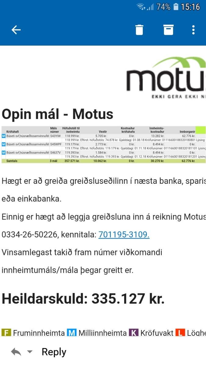 motus in