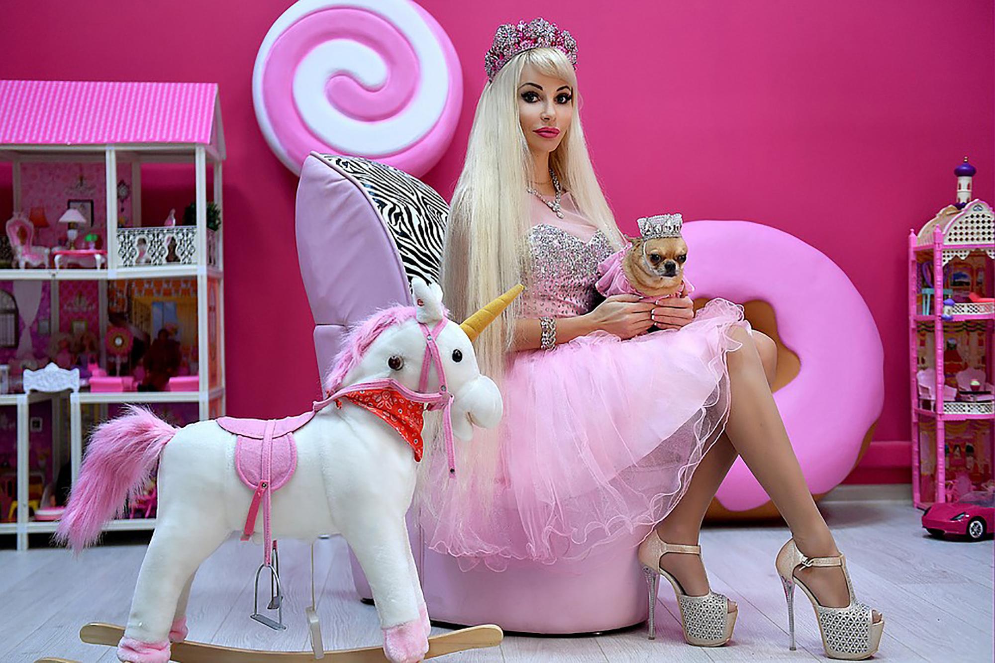 Tatiana Barbie Tuzova in her pink office.