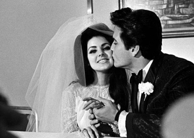 Elvis og Priscilla á brúðkaupsdaginn, 1967