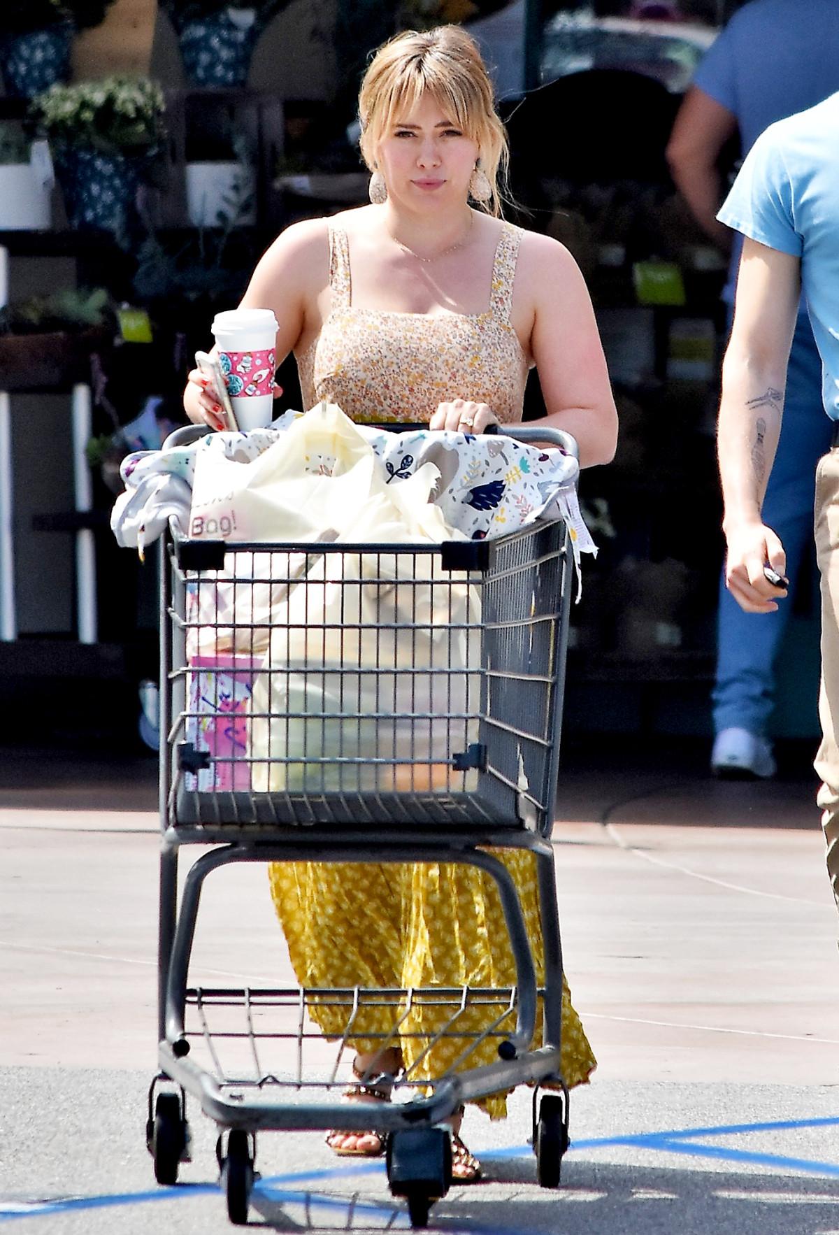 Hilary Duff þann 6 júlí í Los Angeles