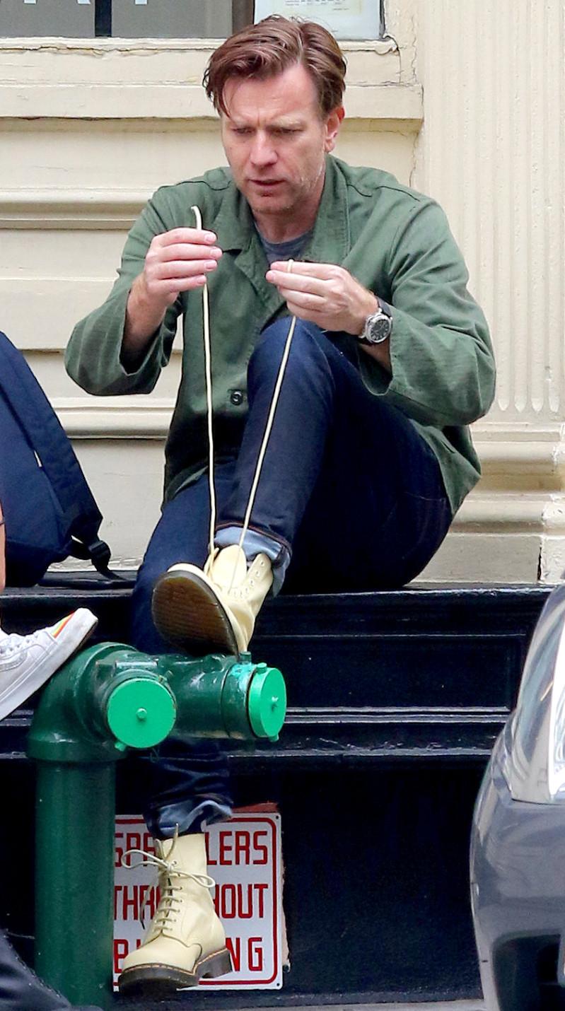 Ewan McGregor reimar hlaupaskóna þann 19. júní í New York