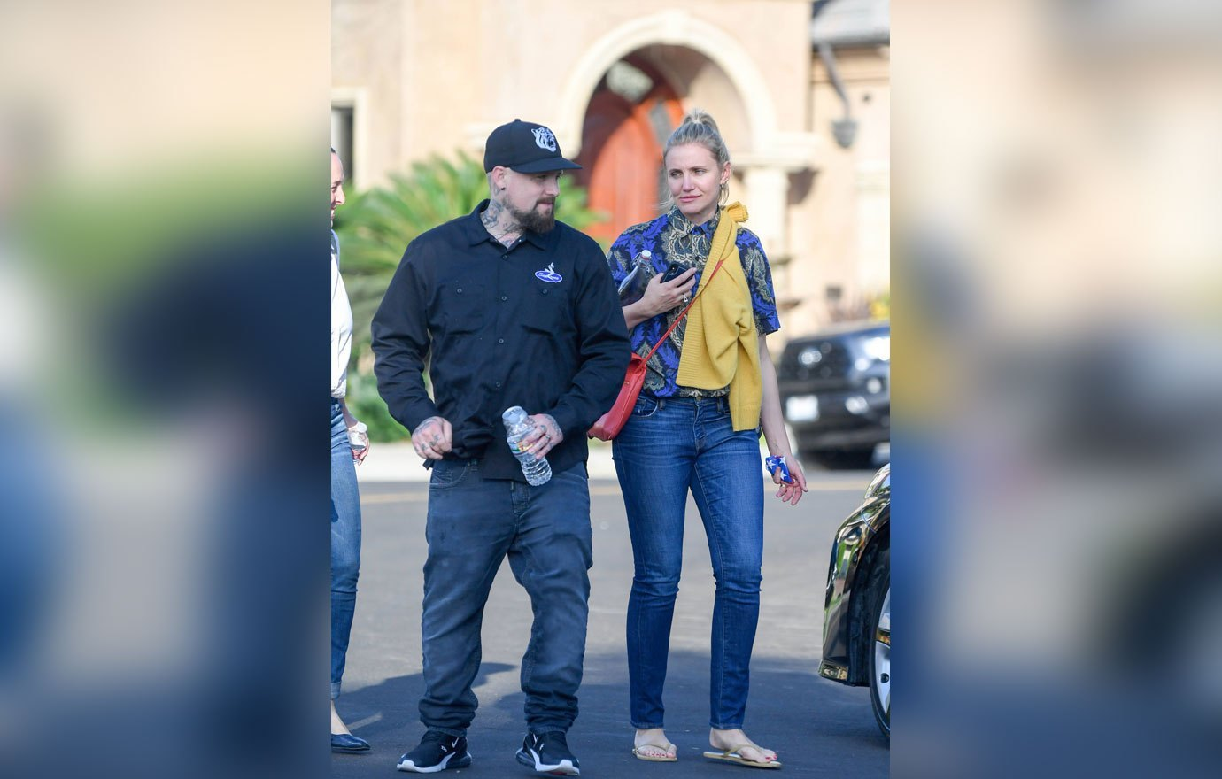 EXCLUSIVE: Cameron Diaz and Benji Madden leave a party thrown in her honor