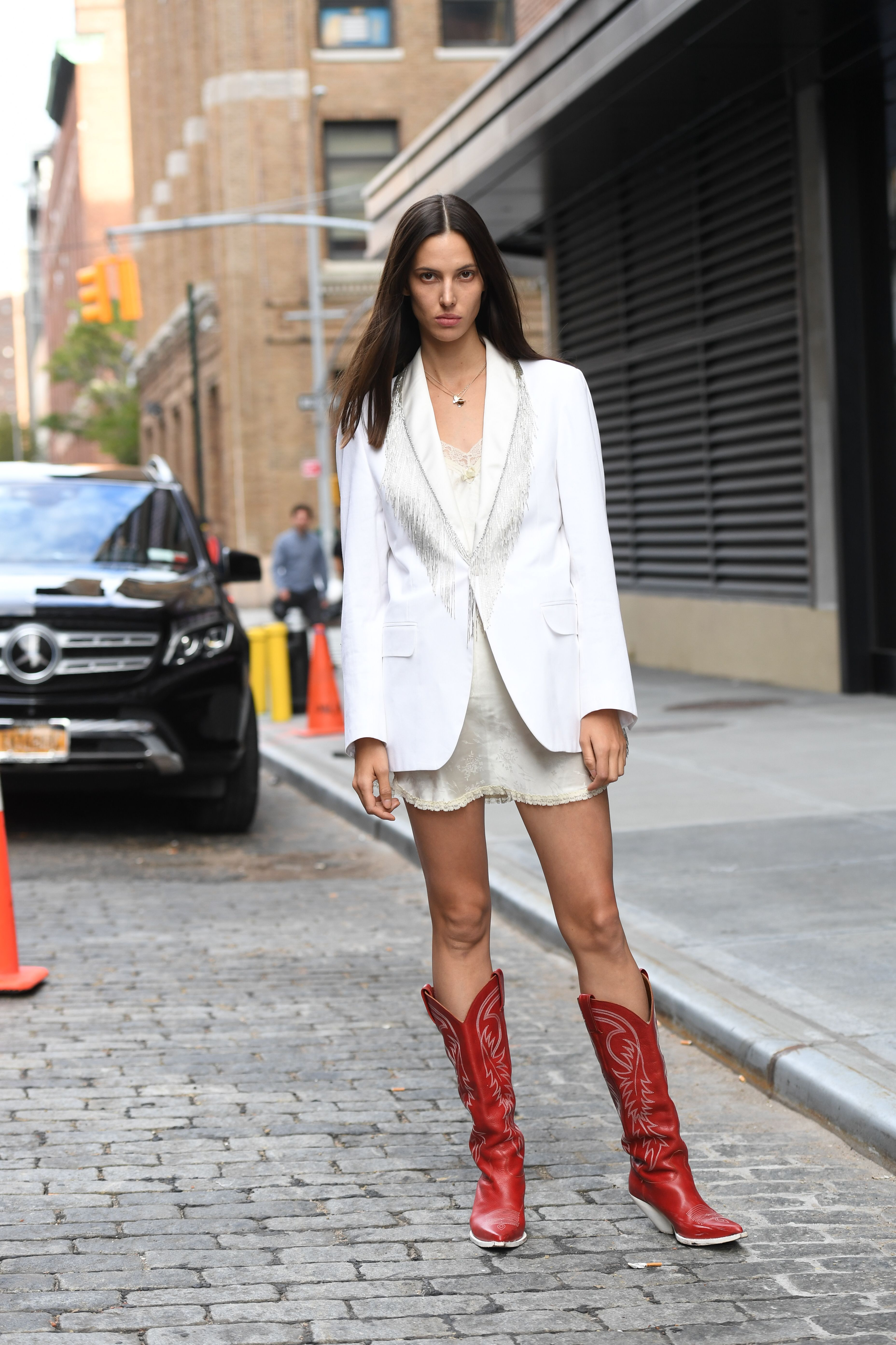 Mandatory Credit: Photo by Shutterstock (10404290ii) Ruby Aldridge Street Style, Spring Summer 2020, New York Fashion Week, USA - 07 Sep 2019