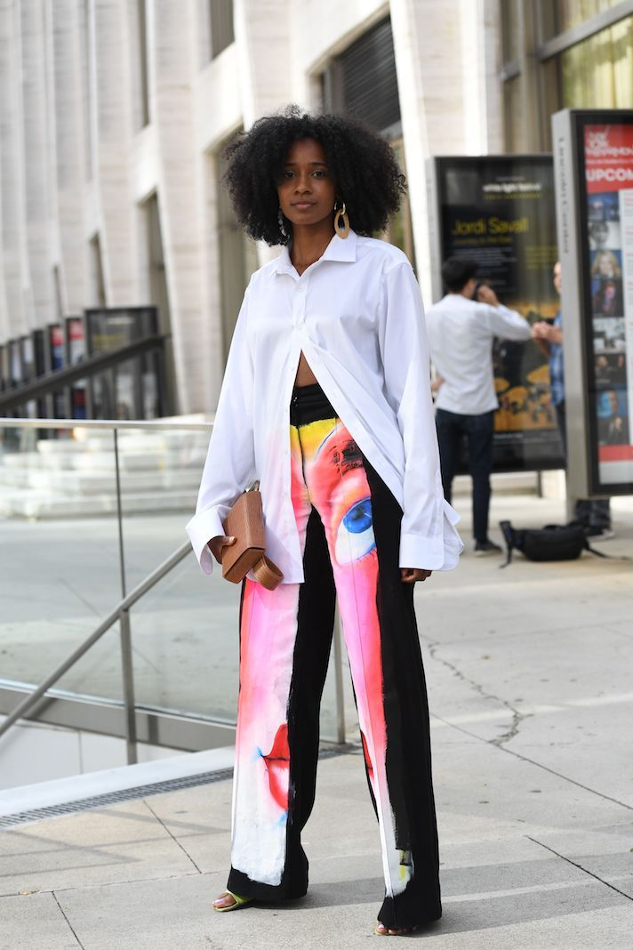 Mandatory Credit: Photo by Shutterstock (10404290hi) Street Style Street Style, Spring Summer 2020, New York Fashion Week, USA - 07 Sep 2019