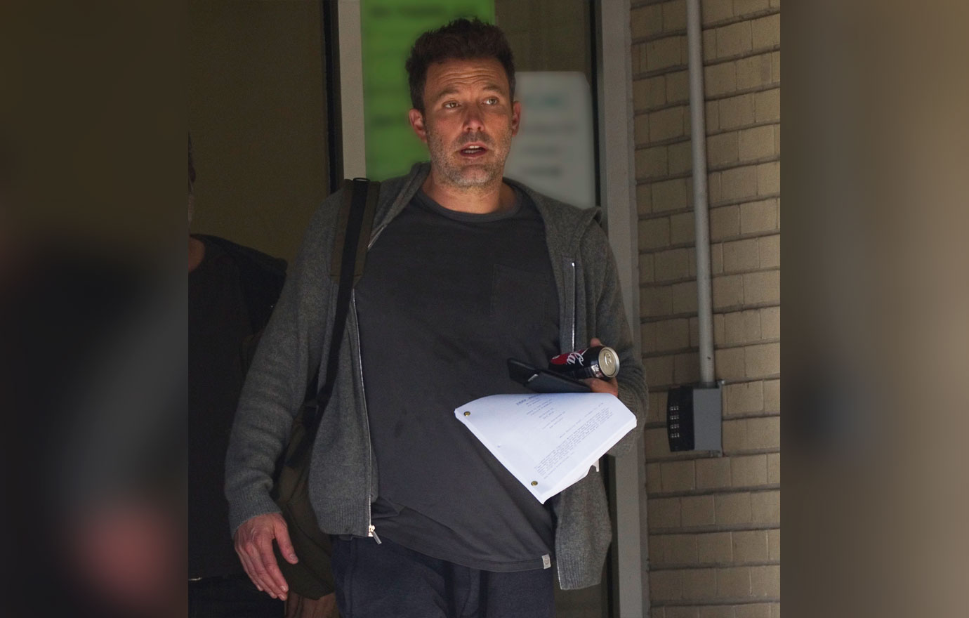EXCLUSIVE: Ben Affleck looks scruffy and disheveled on his first day back at work after 'falling off the wagon' at a drunken Halloween party