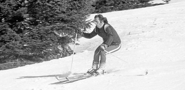 Polanski á skíðum í Gstaadt í janúar 1975