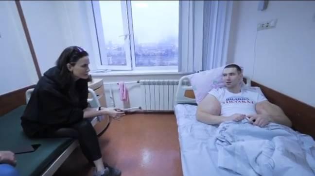 Kirill Tereshin before the surgery - with Alana Mamaeva